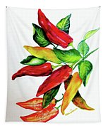 Chillies From My Garden Tapestry