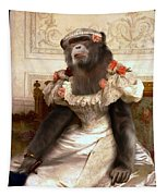 Chimp In Gown  Tapestry