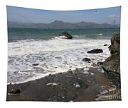 China Beach With Outgoing Wave Tapestry