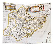 China: Fujian Map, 1662 Tapestry