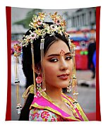Chinese Cultural Fashion Girl Tapestry