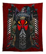 Chinese Masks - Large Masks Series - The Red Face Tapestry