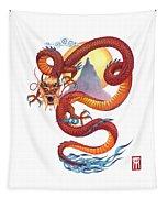 Chinese Red Dragon Tapestry