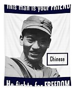 Chinese - This Man Is Your Friend - Ww2 Tapestry