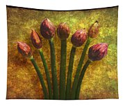 Chives Buds Tapestry