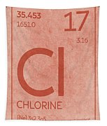 Chlorine Element Symbol Periodic Table Series 017 Tapestry