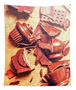 Chocolate Tableware Destruction Tapestry