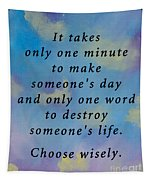 Choose Wisely Tapestry