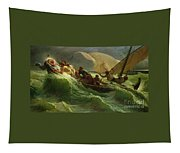 Christ Asleep In His Boat  Tapestry