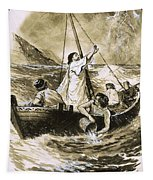 Christ Calming The Storm Tapestry