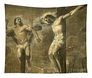 Christ On The Cross And The Good Thief Tapestry