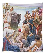 Christ Preaching From The Boat Tapestry