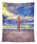 Christian Cross Landscape Tapestry