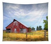 Christian School Road Barn Tapestry