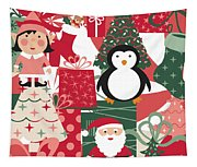 Christmas Collage Tapestry