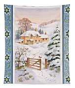 Christmas Cottage Tapestry