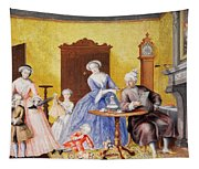 Christmas In The Royal Household Of Empress Maria Theresa Of Austria With Family Tapestry
