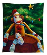 Christmas Made Of Sockies Tapestry