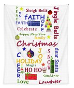 Christmas Message  -  Typography Tapestry