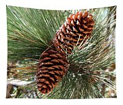 Christmas Pine Cones Tapestry