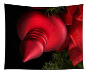 Christmas Tradition - Red Ornament And Ribbon Tapestry