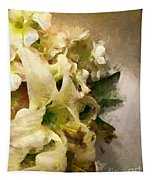 Christmas White Flowers Tapestry