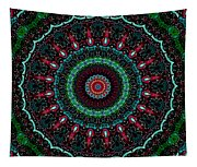 Christmas Wreath Kaleidoscope Tapestry