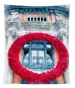 Christmas Wreath Old Quebec City Tapestry