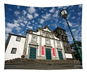 Church In Ribeira Grande Tapestry