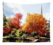 Church In The Distance In Autumn Tapestry