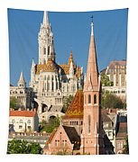 Churches In Budapest Hungary Tapestry