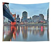 Cincinnati At Dusk Tapestry