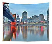 Cincinnati At Ground Level Tapestry