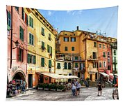 Cinque Terre - Vernazza Main Street Tapestry