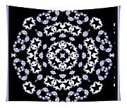 Circle Of Stars And Flowers Tapestry
