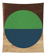 Cirkel Blue And Green- Art By Linda Woods Tapestry by Linda Woods