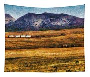 City - Arizona - Southwestern Cargo Train Tapestry