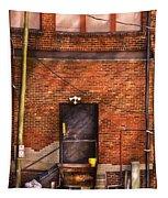 City - Door - The Back Door  Tapestry