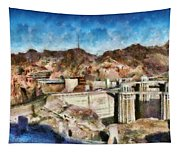 City - Nevada - Hoover Dam Tapestry