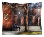 City - Newark Nj - Always Waiting  Tapestry