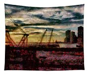 City - Ny - Overlooking The Hudson Tapestry