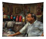 City - Ny - The Pretzel Vendor Tapestry