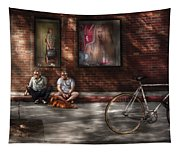 City - Ny - Two Guys And A Dog Tapestry