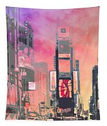City-art Ny Times Square Tapestry