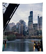 City At The Waterfront, Chicago River Tapestry