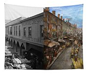 City - Baltimore Md - Traffic On Light Street - 1906 - Side By Side Tapestry