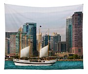 City - Chicago - Cruising In Chicago Tapestry