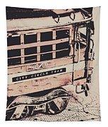City Circle Street Artwork Tapestry