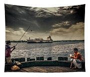 City Fishing Tapestry