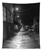 City Lane At Night Tapestry